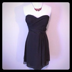 Express strapless dress sweetheart gray - size 8